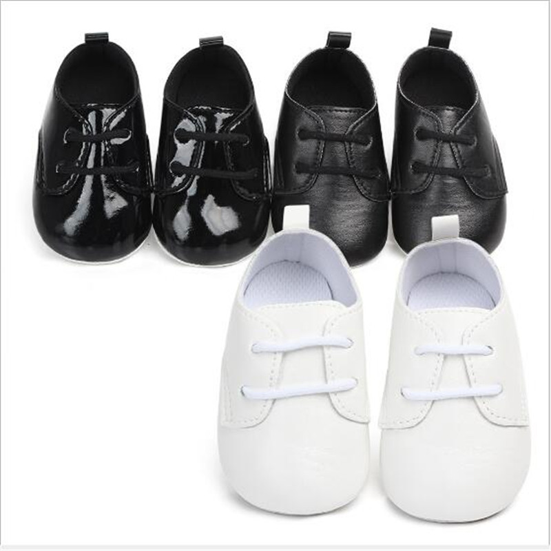 New Baby Shoes PU First Walkers Lace-up Infants Boys Shoes