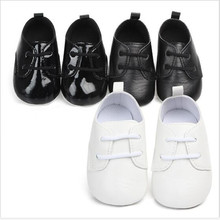 New Baby Shoes PU First Walkers Lace-up Infants Boys