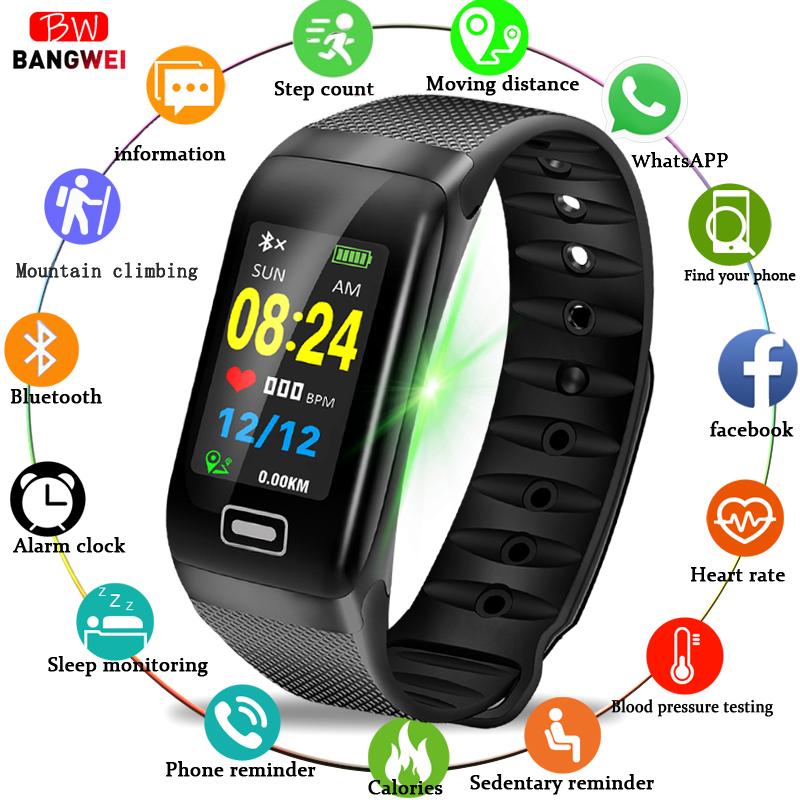LIGE Intelligente Della Vigilanza di Sport di Fitness Tracker Heart Rate di Pressione Sanguigna IP67 banda Intelligente Pedometro IOS Android Smart wristband del braccialetto