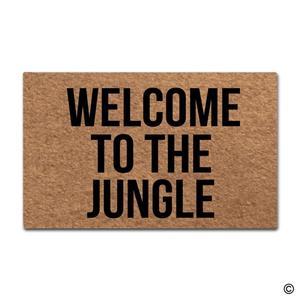 Image 1 - Дверной коврик, входной напольный коврик, добро пожаловать в джунгли, Забавный Домашний напольный коврик