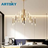 Современный акриловый светодиодный подвесной светильник в скандинавском стиле для гостиной, кухни, дизайнерский подвесной светильник