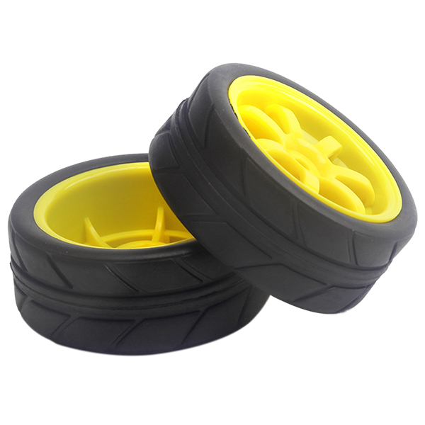 4PCS 63mm Diameter 26mm Width Hub Rc Wheels 110 Hex 12mm Rim&Tires For HSP 1/10 On-Road Flat Racing RC Car 4pcs set 12mm hex rubber tires tyre wheel rim for hsp rc 1 10 flat racing on road car pp0150 6rg toys vehicles accessories