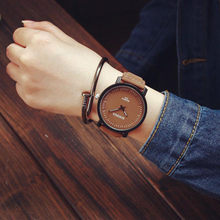 Fashion Watch Steel Case Men women Leather Quartz analog wrist Watch Womens Watches Top Brand Luxury Reloj Mujer 2018 Fashion(China)
