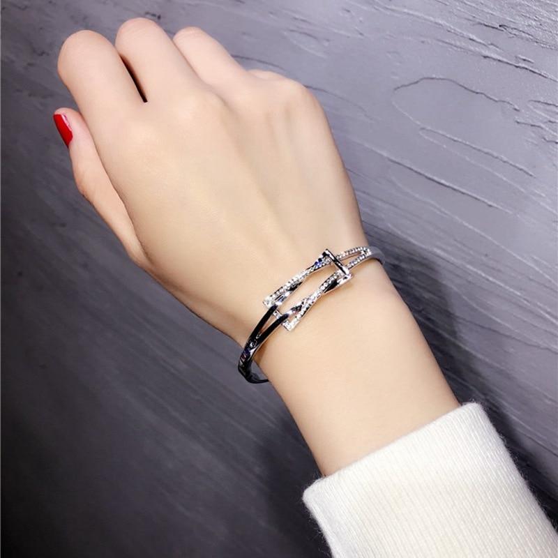 Ultimate Deal╓Bangles Bracelet Crystal Pulseira Women Fashion Luxury Brand Bling for Feminina Valentine's-Gift