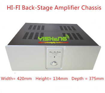 case 435*150*380mm A2001B amplifier chassis/Back-Stage Amplifier Chassis/Aluminum panels/AMP case Enclosure / headphone amp case