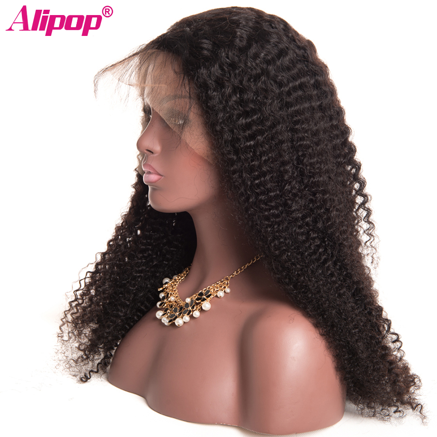 Brazilian Kinky Curly Lace Wig Remy Lace Front Human Hair Wigs Alipop Human Hair Wigs With Baby Hair Pre Plucked Lace Front Wig