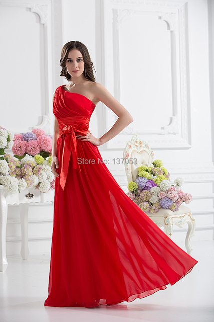 Fashionable Party Dress Princess Style Design Ruby Shiffon Evening Special Occasion Wedding And Graduation