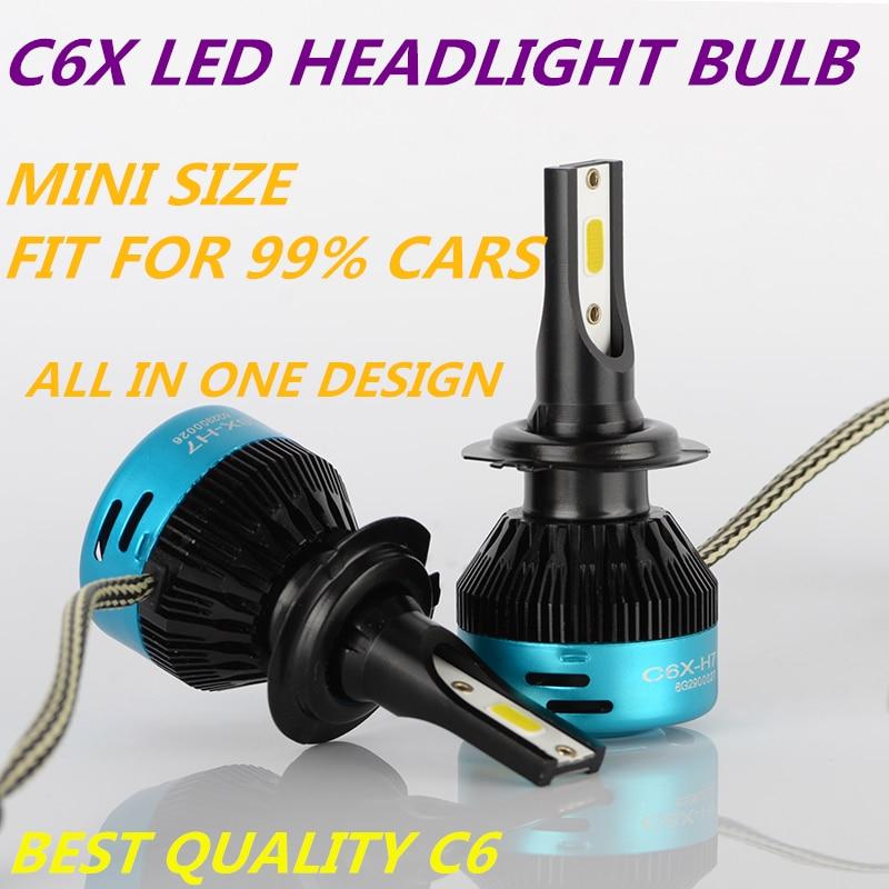 DLAND S2 AUTO LED BULB LAMP KIT LIGHTS 72W 7600LM, IP68 H1 H3 H4 H7 9006 9005 H8 H10 H11 H13