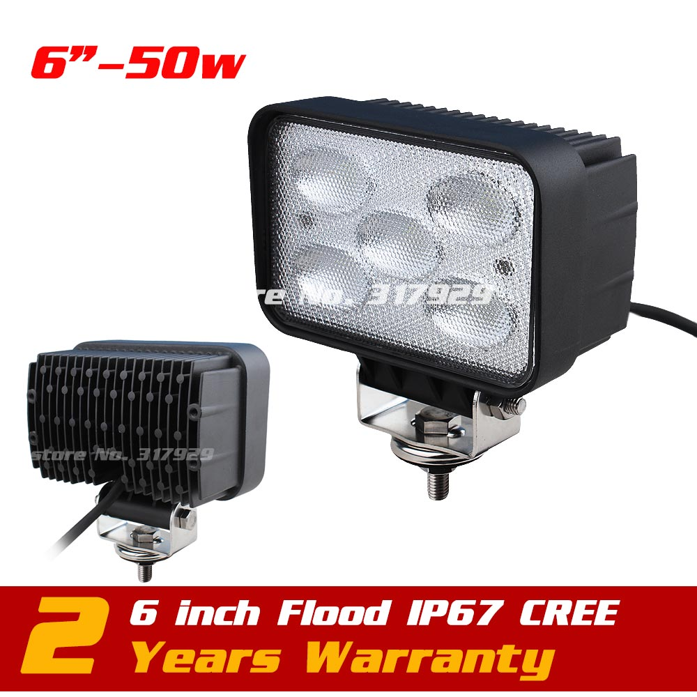 50W Led Work Light Offroad Wide Flood SUV ATV Off-road Truck LED Fog Light LED DRIVING LIGHT 4WD Save on 18w eyourlife 23 25 inch 120w fog lamp spot wide flood beam combo work driving led light bar for offroad suv atv 12v 24v 99