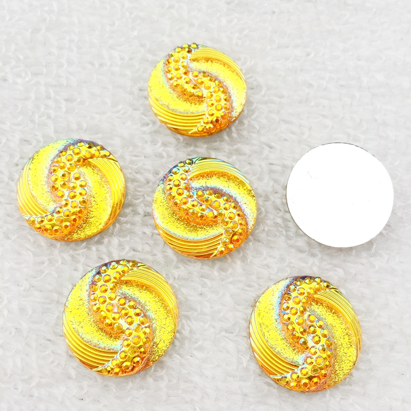 9colour 20Pcs 20mm AB flatback stones and crystals Resin Round Rhinestone trim DIY Wedding Dress Button-B06 4