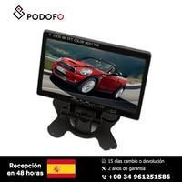 Podofo 7'' HD Car Monitor Rearview Screen Digital Display HDMI VGA DVD For Car Backup Camera +Remote Control With Power Adapter