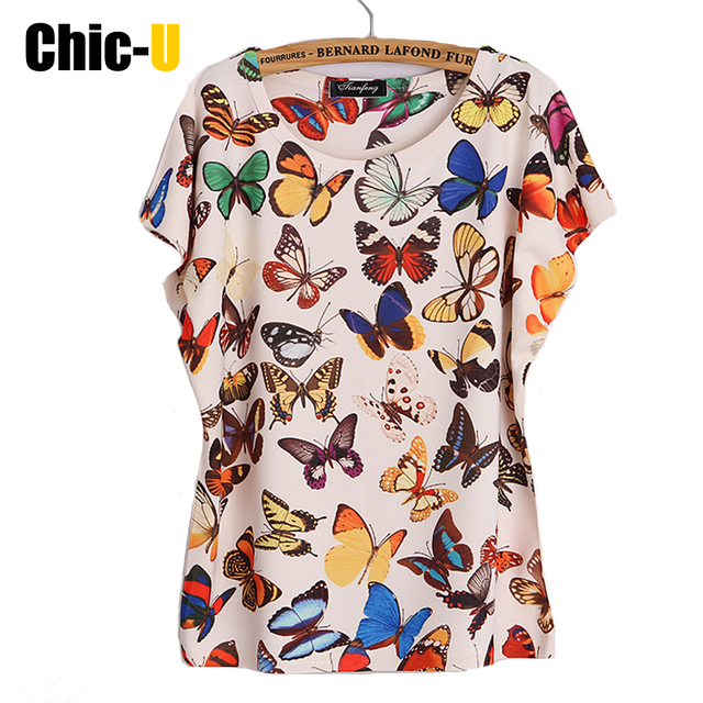Us 999 T Shirt Cotone Harajuku Tumblr Estate 3d Molti Colorato Farfalla Tee Shirt Femme Manica Corta Poleras De Mujer Grande Formato In T Shirt