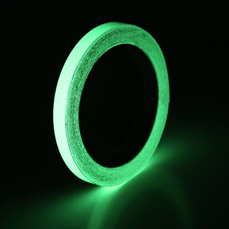 3M Self-adhesive Sticker Removable Luminous Tape  PET Reflective Glow Tape Fluorescent Glowing Dark Striking Warning Tape