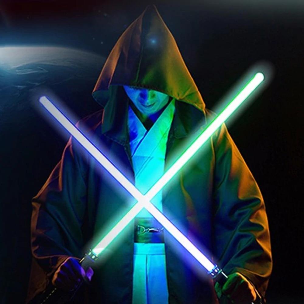 YWXLight 2pcs/lot LED Star Wars Sword Flashing Cosplay Props Kids Double Light Sword LED Lamp Star Wars Light Holiday Gift
