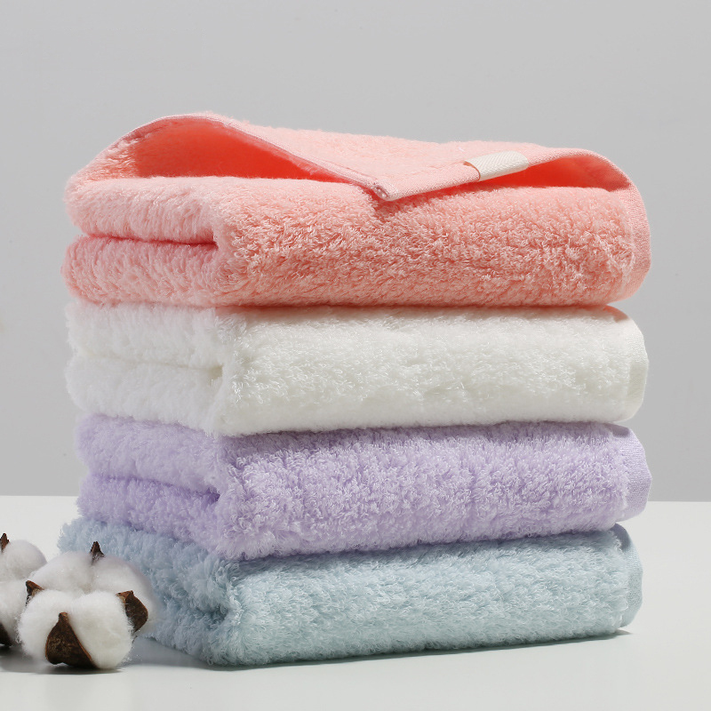 34 74CM super soft 100 long staple cotton twisting free towel pink white purple bule solid hair towel couple lovers face towel in Face Towels from Home Garden