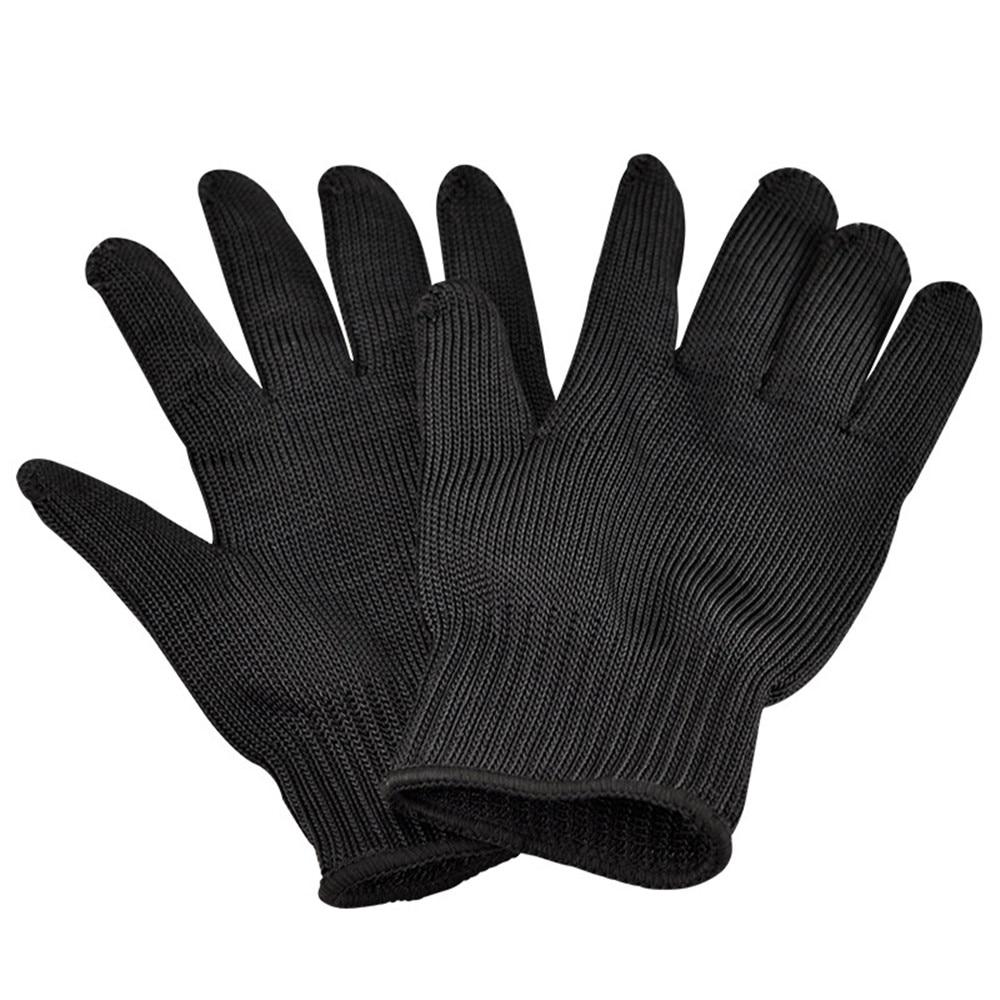 Black gardening gloves - 1 Pair Garden Gloves Black Durable Soft Washable Gloves Stainless Steel Wire Cut Resistant Kevlar