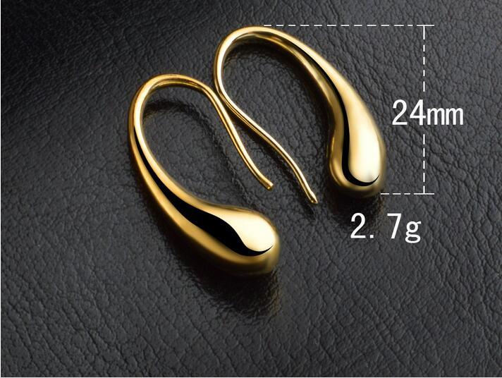 Hot 925Sterling Solid Silver Jewelry Waterdrop Dangle Earrings For Women E004
