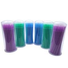 100 шт одноразовые цветные ватные тампоны щетка для ресниц чистящие тампоны горячее естественное приспособление для снятия ресниц тату набор микрощеток