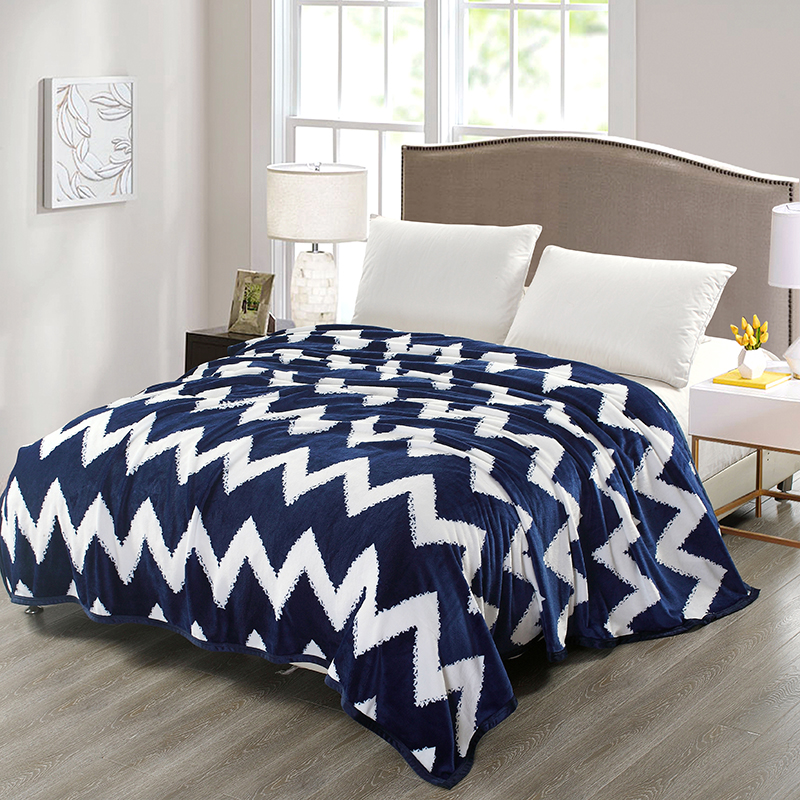 Wondrous Us 21 54 40 Off Blue And White Stripe Pattern High Quality Flannel Plain Bedspread Blanket Throws Fleece Blanket Manta Coberto For Sofa Bed Car In Uwap Interior Chair Design Uwaporg