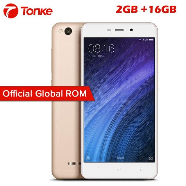 """Новый телефон Xiaomi Redmi 4A красный рис 4A 2 ГБ Оперативная память 16 ГБ Встроенная память Snapdragon 425 Quad Core Мобильный телефон 3120 мАч 5.0 """"13MP"""
