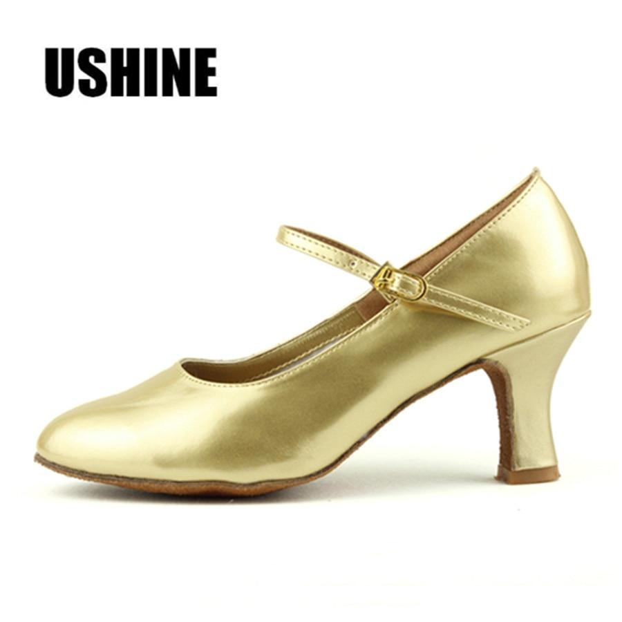Heel 7cm זהב שחור כסף סאלסה סלוניים ריקודים סלוניים זאפאטוס סלסה Mujer Zapatos דה בייל לטינו Mujer לטינית דאנס נעליים אישה