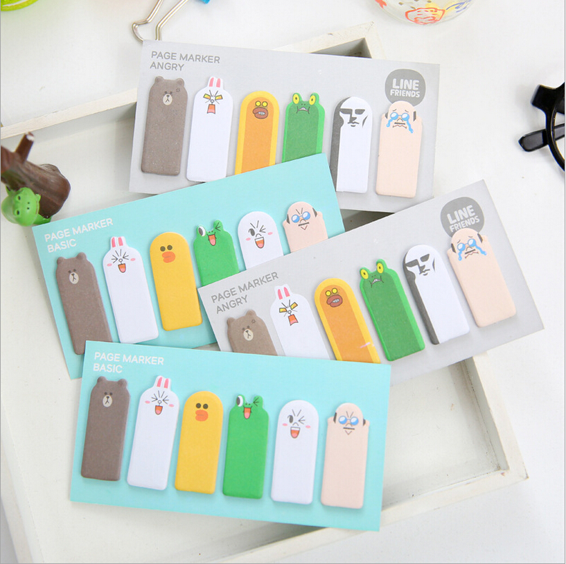 4pcs/lot Stationery Store Mini Memo Pads Kawaii Finger Sticky Notes DIY Post It School Office Supplies Korean Cute Stickers
