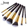 7pcs set Pro MakeUp Cosmetic Set Eyeshadow Foundation wood Brush blusher Makeuo brushesTools Purple/Gold