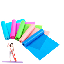 7 Colors Yoga Resistance Rubber Bands Indoor Outdoor Fitness Equipment 150cm length Pilates Sport Training Workout Elastic