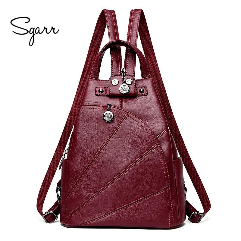 SGARR Fashion PU Leather Women Backpacks For Teenage Girls Bag High Quality Students School Backpacks Casual Female Travel Bags mayer boch набор столовых приборов 24пр мв 23093