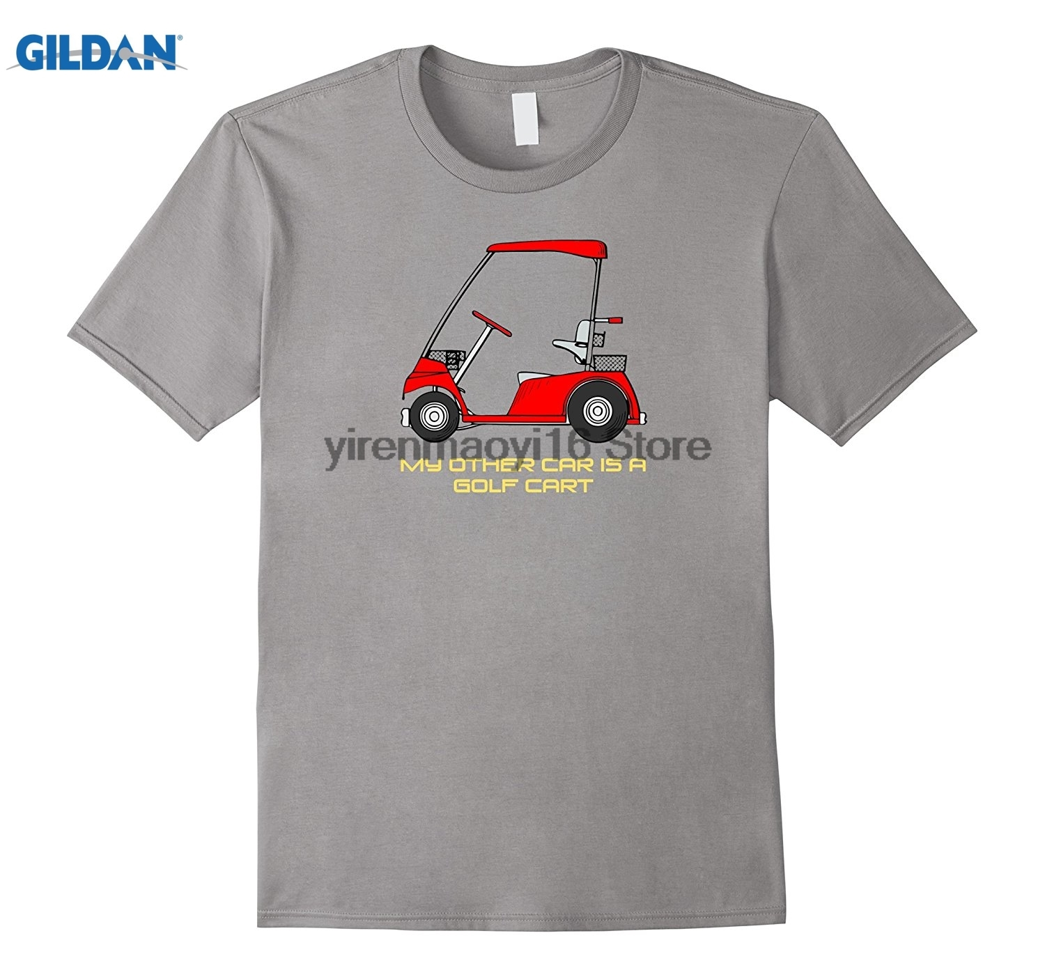 GILDAN 2018 My Other Car Is A Cart T-Shirt Golfer Tee Shirt