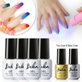 Belen 4pcs Chameleon Temperature Change Gel Top Gel Nail Base For Nail Set Build Thermo Lacquer 9W Mini LED Lamp For Nails Kit