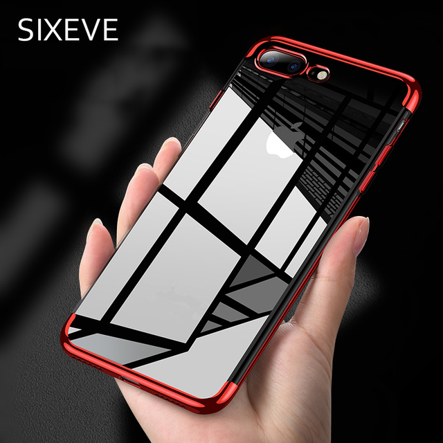 a0e8eac7ea9 Luxury Plating TPU Phone Case for iPhone 7 8 6 6S Plus X 10 XR XS ...