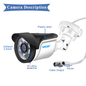 Image 4 - Smar New Super HD 3MP/5MP AHD Camera Waterproof 6* Nano IR LEDS Security Camera  AHDH System Video Surveillance With Bracket