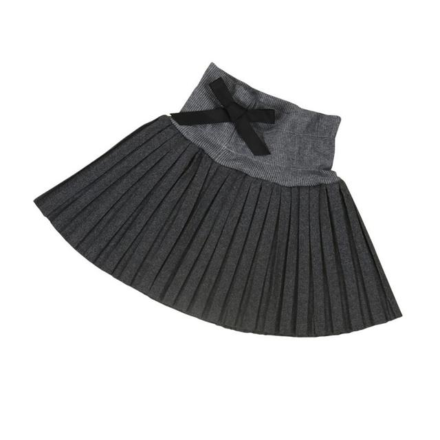 Kids Girls Princess Pleated Skirt College Wind Skirt High Waist Skirt Girls wool pleated skirt
