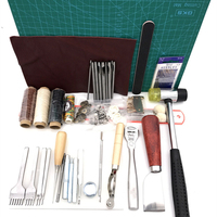 42 pcs Professional Leather Craft Tools Hand Sewing Stitching Punch Carving Work Saddle Groover Kit DIY Practical Hot
