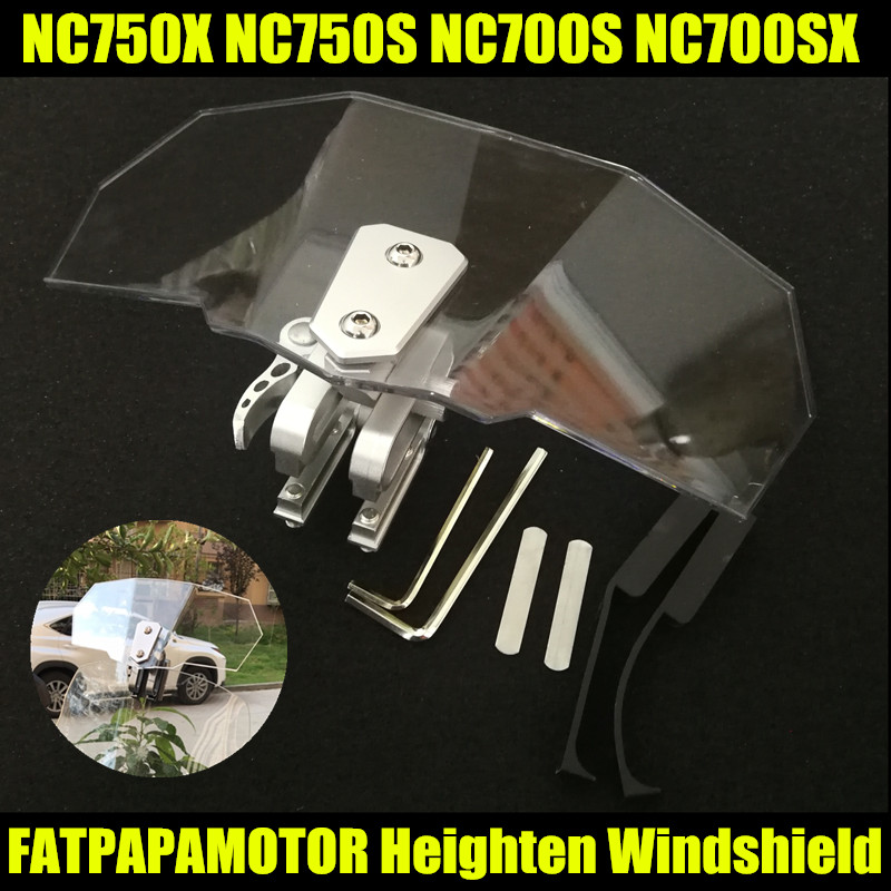 2018 NEW Hot Sale Motorcycle Windshield Increased FOR HONDA NC750X NC750S NC700S NC700SX NC700 NC750 S X цена