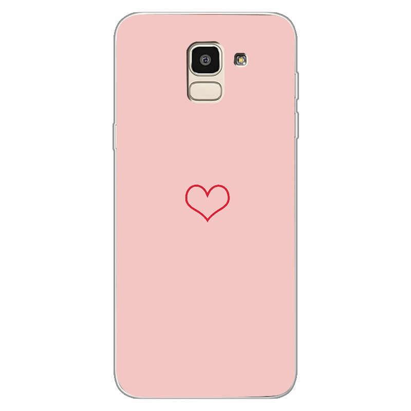 Funda suave de silicona para teléfono Samsung Galaxy S9 S8 Plus Note 9 A8 Plus 2018 S7 Edge J4 J6 J8 A7 2018 funda amor cubierta suave Capa