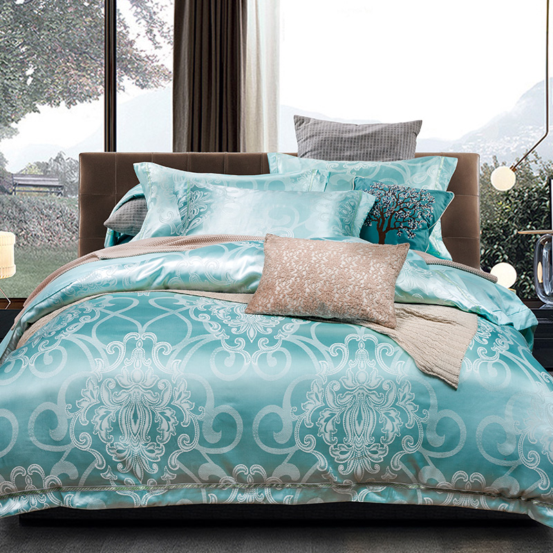 Image result for green and blue brocade bed sheet