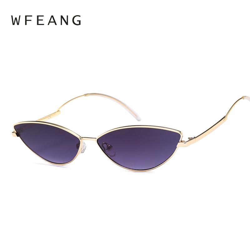a40adaf80c ... señoras Sunglass negro Eyewear sombras femeninas. Cheap WFEANG las gafas  de sol del ojo del gato marca diseñador gafas de sol Retro