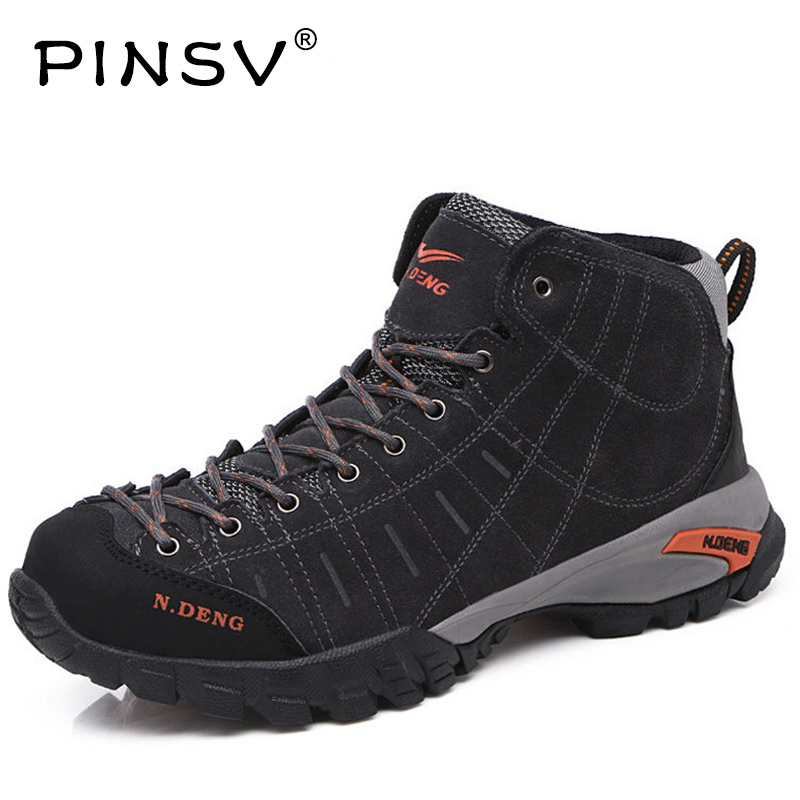 PINSV Winter Sneakers For Men Outdoor Winter Hiking Shoes Men Winter Sneakers With Fur Tactical Boots Trekking Shoes Big Size big size 46 men s winter sneakers plush ankle boots outdoor high top cotton boots hiking shoes men non slip work mountain shoes