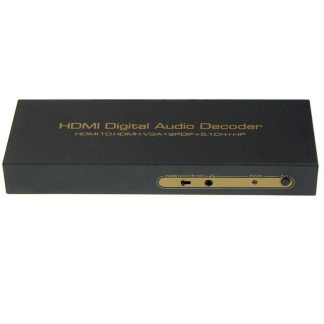 Hot selling 2015 New HDMI Audio Extractor Splitter Fiber 2CH/5.1CH HDMI to HDMI/SPDIF/VGA 1pc