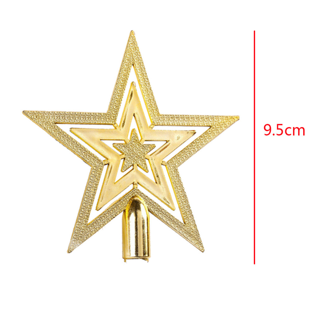 Gold star ornaments - Aliexpress Com Buy 9 5cm Golden Glitter Star Christmas Tree Topper Ornaments Xmas Decorations For 30 60cm Christmas Tree Freeshipping 2016 From Reliable