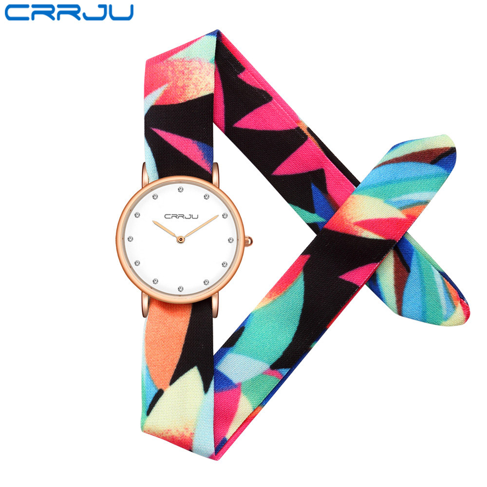 CRRJU Floral Design Case Movt Water Resistant Life Watch Women Relogio Feminino Luxury Brand Ladies Dress Clock Female New