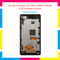 5pcs LCD Display Screen With Touch Screen Digitizer Assembly For Sony Xperia Z1 Compact Z1 Mini M51W D5503 Replacement