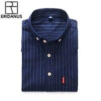 הגעה חדשה של מותג גברים חולצות הפסים של עבודה משרדית מזדמן ארוך שרוולים חולצת Slim Mens פורם camisa שמלת גודל אסיה S-4XL X458