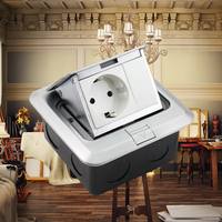 250V 16A Waterproof European Standard Floor Socket Charger Adapter Socket for Office Kitchen Bedroom