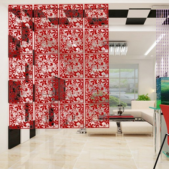 yazi 4PCS Butterfly Flower Hanging Screen Panel Room Divider ...