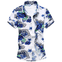Для мужчин Роскошные Летние Повседневная рубашка 2018 новые модные принт Рубашка с короткими рукавами рубашки хорошее качество Для мужчин s о...