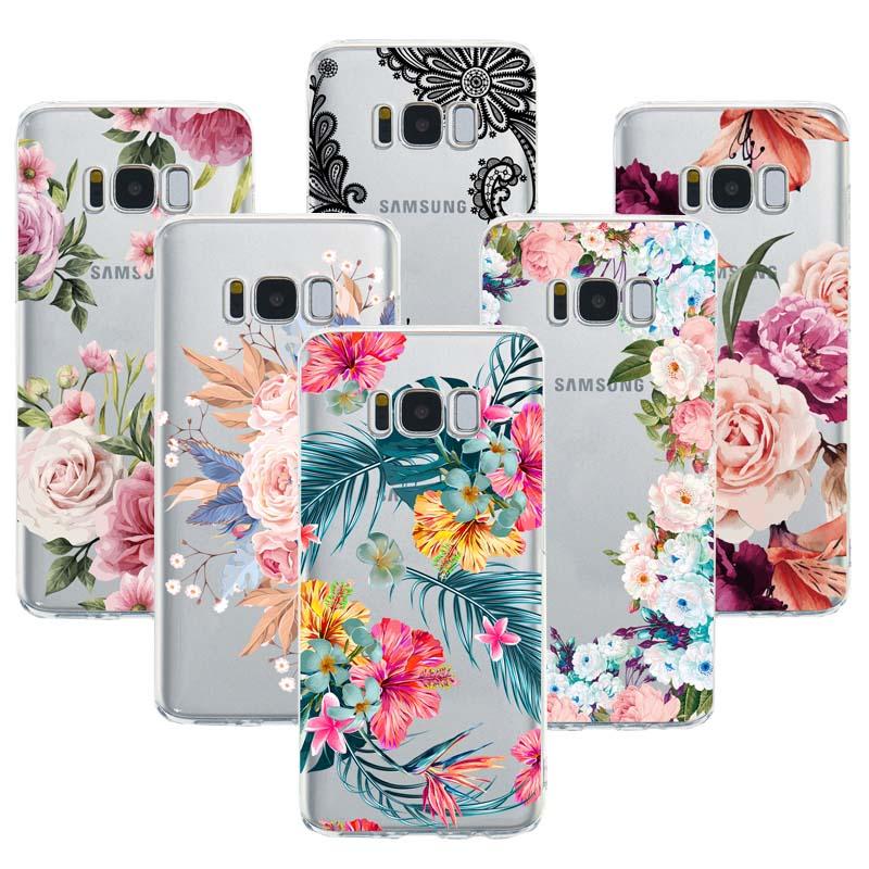 Sexy Floral Phone Case For Samsung S8 S9 S10 Plus S10lite J3 J4 J5 J6 J7