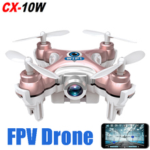 Dwi Dowellin Cheerson CX-10W Drone with Camera Remote Control 2.4G 4CH 6-axis Phone Control WIFI FPV RC Quadcopter